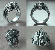 Crouching Garoyle ring by Dans-Magic