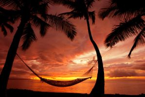 Hammock on a Sunset by kokoShadow