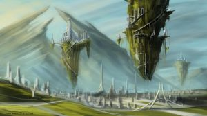 Lens Floating City Concept by BABAGANOOSH99