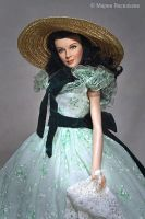 Vivien Leigh as Scarlett by mary-vassilieva