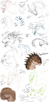 dragon and dino dump by BlueJay-Cat