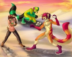 Commission: Snowball Fight! by Silberry