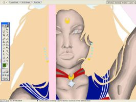 Sailor Moon WIP by RandiLeeAnn