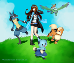 BW2 Pokemon Team by MizunoSerenade