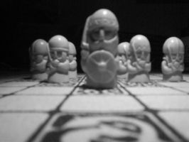 Hnefatafl Soldiers by paganmay