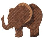 Quilted Wood Elephant by FauxHead