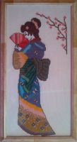 Geisha Cross Stitch by Tifa666