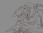 Pyltharsus Warp Spider Exarch [LINEART] by bloodtrailkiller