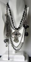 Silver Mourning Necklace by bchurch