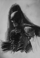 Daily Sketch Challenge 12/24/12 : Batman by whitneyw