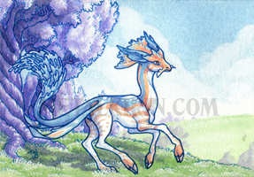 Bloodhound-Omega ACEO trade by thedancingemu