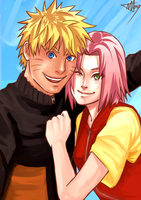 NaruSaku . Us by starchiishio