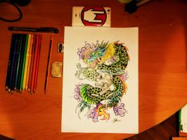 Japanese Dragon by MartaCmTattoos