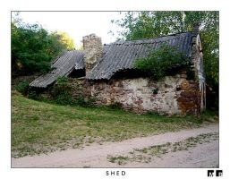 An old shed by goldmines