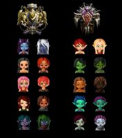 WOW races chibi style by s0ldi3rgur1