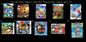 My Top 10 Unplayed Games by rabbidlover01