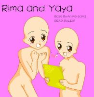 First Base- Yaya and rima by Anime-sama
