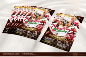 Strawberry Saturday's Party Flyer by Gallistero