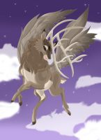 Winged Deer by PirateHearts