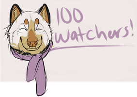 100 watchers! by A-Need