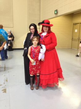 Madam Red And Grell Cosplayers by SecretAgentkay42