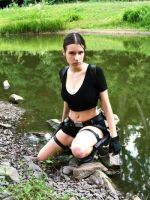 Lara Croft - Near the lake by TanyaCroft