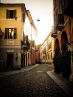 Street in Cremona - Italy by distandi