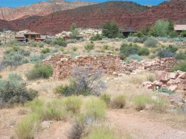 Harrison House Hotel foundation, Silver Reef, Utah by Raptorguy14