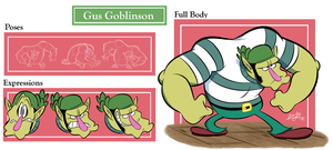 Gus Goblinson Model Sheet by RedBlooper