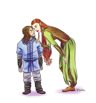 Tauriel and Kili by Irrel