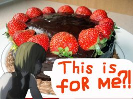 Mello and chocolate cake by Hedgehog-Russell