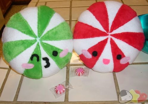 Peppermint Candy Plushies by LiLMoon