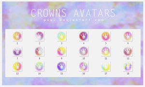 {Crowns Avatars} by Poqi