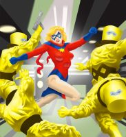 Ms Marvel vs A.I.M. by MIKE00009