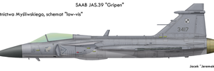 Grippen: low-vis markings by Jeremak-J