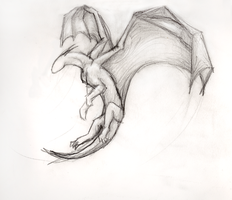 Dragon Flight - Sketch by jo-shadow