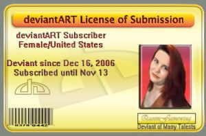 My deviantLicense by QueenFlamewing