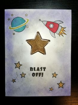 shaker card - Blast off! by inconsistentsea