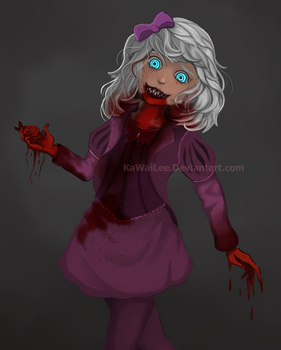 Blue Eyes - bloody version by KaWaiLee