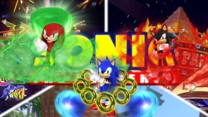 Sonic, Knuckles and Shadow by FARetis