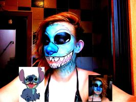 Stitch make up by Arisusandasu