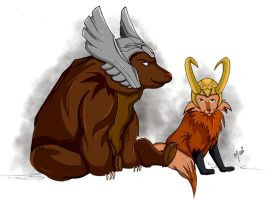 Animals from Asgard by marigusmao