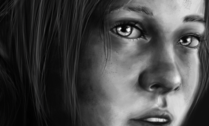 ELLIE LAST OF US - Close up WIP by TheArtOfGle4se