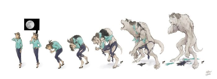 Megumi Werewolf Transformation Sequence by Pakeet