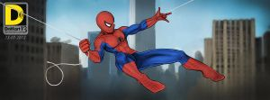 Swingin' Spiderman by dnhart13