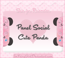 Skin Panel Social Cute Panda for Rainmeter by Imfairygirl