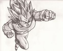 Vegeta Super Saiyan by superheroarts