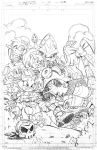 Sonic Universe 58 cover pencils by RyanJampole