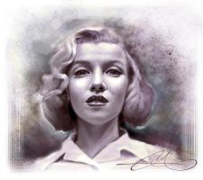 Marilyn Speed painting by EthanMichaeL