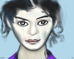 Woman face study n36 by lv888